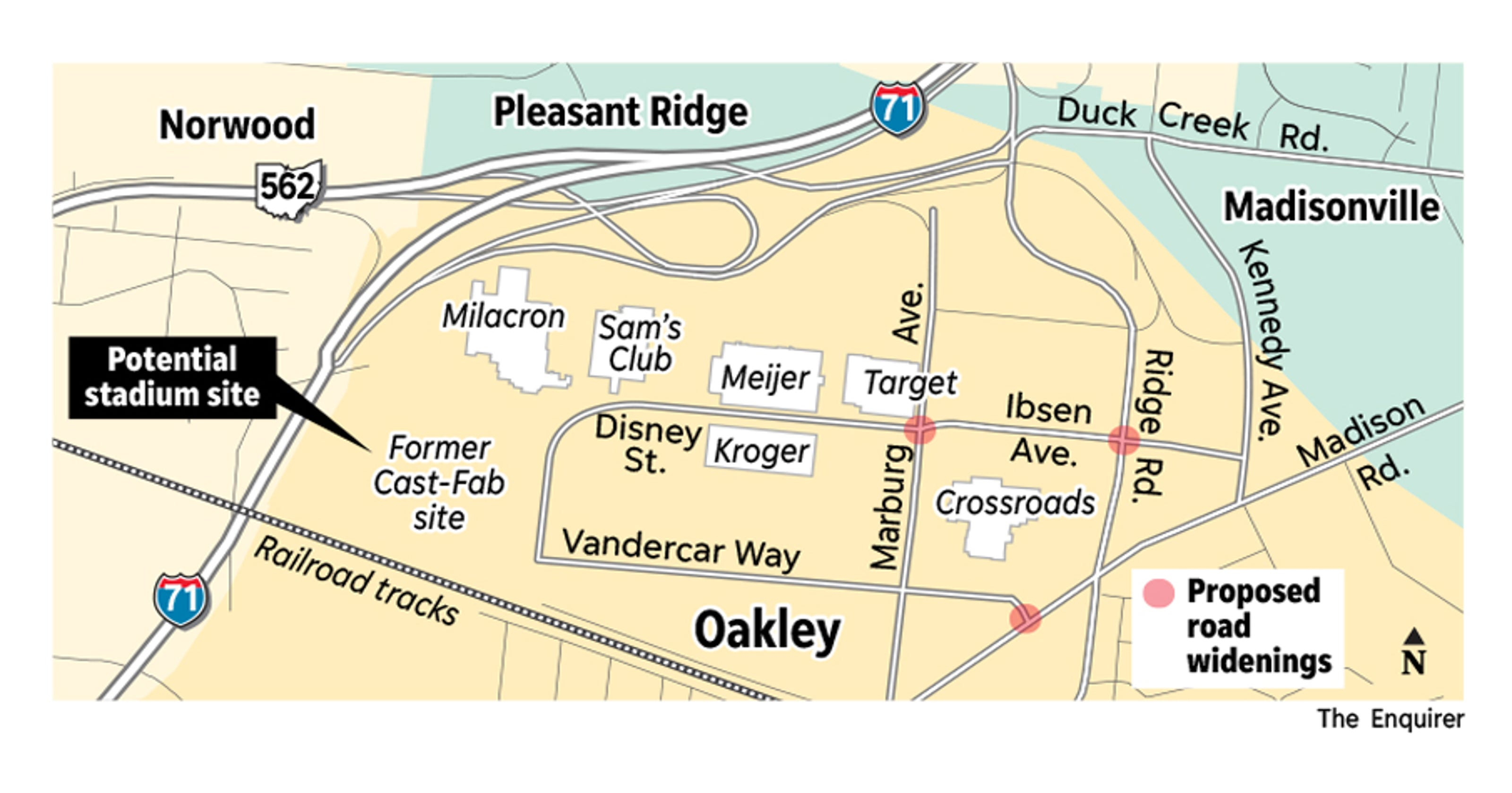 Fc Cincinnati Mls Stadium Would Work In Oakley Study Shows