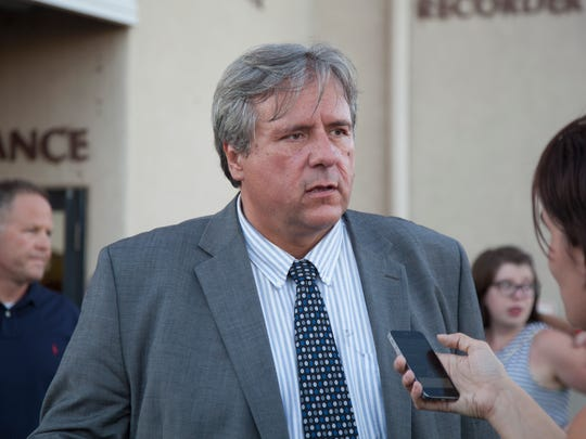 Former Dixie State University theater professor Varlo Davenport comments on the trial verdict after a jury found him not guilty of misdemeanor assault against a student Thursday, July 14, 2016.