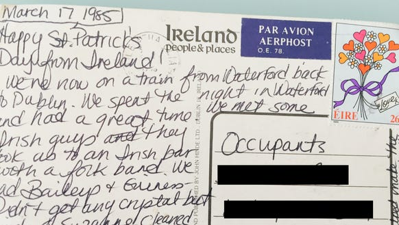 Reporter Dawn Gilbertson sends her parents a postcard