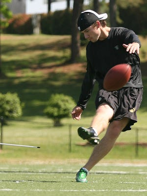 Jackson native Swayze Waters is in Jackson, working out and getting ready for Carolina Panthers preseason camp.