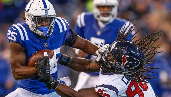 As a rookie, Marlon Mack totaled 358 yards on 93 carries.