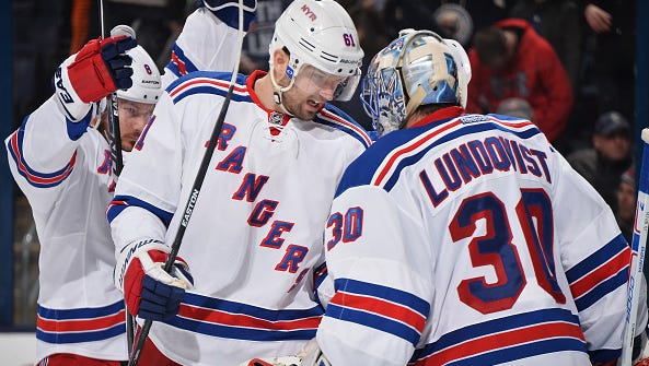 Rick Nash (left), Henrik Lundqvist (right) and the Rangers should be healthy and rested as they resume play following the NHL's all-star break.