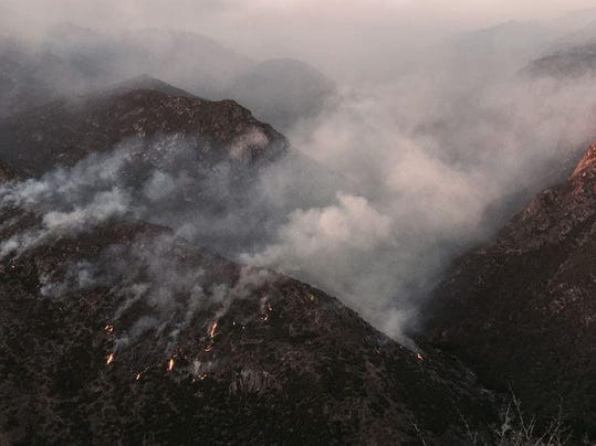 rought fire canyon photo