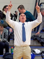 McConnellsburg coach Brent Seville looks to the sky