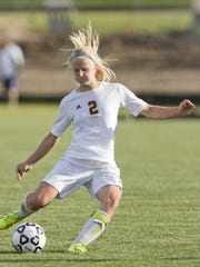 Maddie Pogarch had the assist on Hartland's goal, but