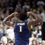 Xavier Musketeers forward Jalen Reynolds (1) celebrates against the Providence Friars during the second half at Dunkin Donuts Center.