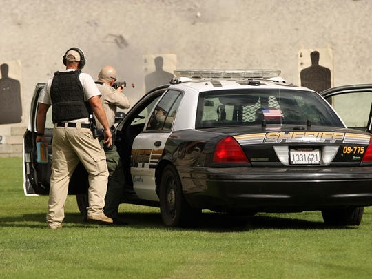 Deputies undergo firearms training at the sheriff's department practice range in La Quinta in this 2012 file photo.