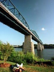 The Walnut Street Bridge has been restored as a pedestrian