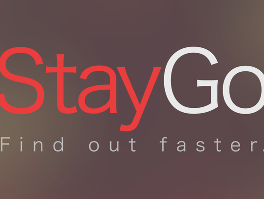 Logo for the StayGo app created by Monmouth University