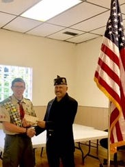 Dawson Innes (left) was honored for his Eagle Scout