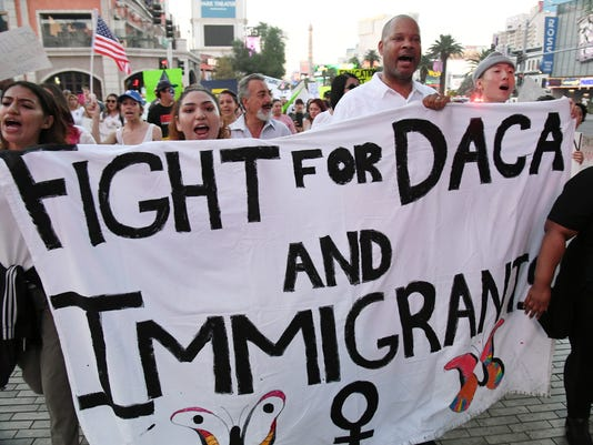 """Hundreds Join """"Defend DACA"""" March In Las Vegas"""