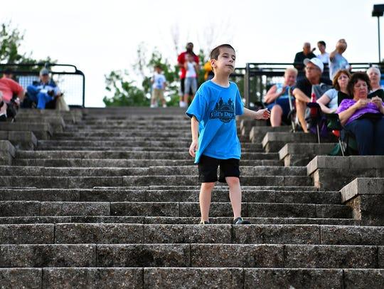 Ayden Gantz, 7, of Rheems, dances as Coatesville-based