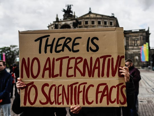 A sign from the 2017 March for Science in Germany.