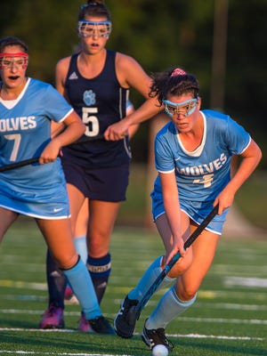 South Burlington's Joan Vera brings the ball down the field against Mt. Mansfield in South Burlington on Wednesday, September 27, 2017.