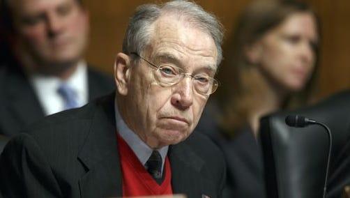 U.S. Sen. Chuck Grassley, a Republican from Iowa sports a sweater vest.