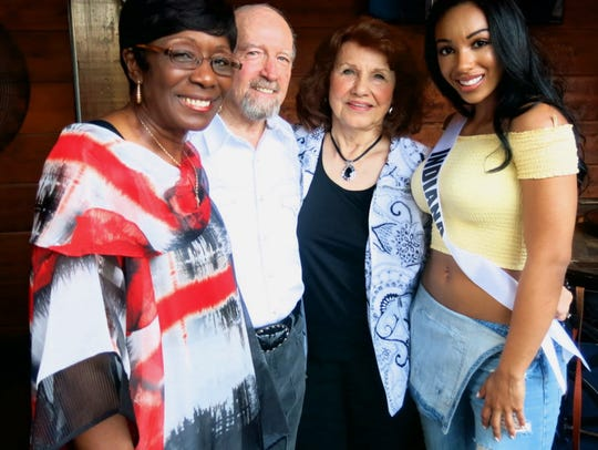 Shreveport Mayor Ollie Tyler, Bossier City Mayor Lo Walker and Connie Cash, Miss Indiana USA Darrian Arch, who plans to attend medical school, cluster up at Silver Star.