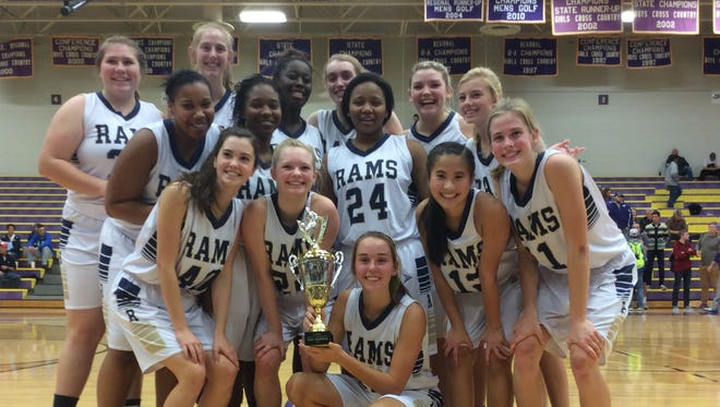 The Roberson girls won the Knights Christmas Tournament at Northh Henderson.
