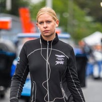Christina Nielsen and teammates Kumo Wittmer and Brandon Davis lead the GT Daytona class by one point heading into Saturday's Petit Le Mans.
