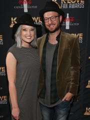 Chris August and his wife, Katelin, attend the KLOVE