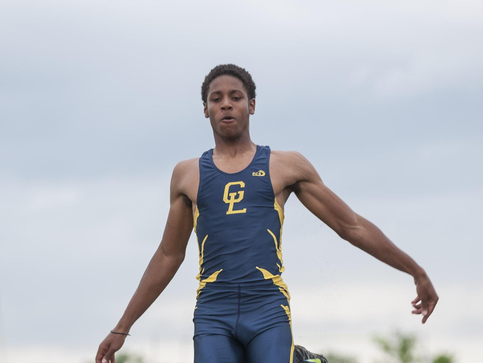 Grand Ledge's Austin Edwards repeated as the Division 1 state champion in the long jump during a strong junior season.