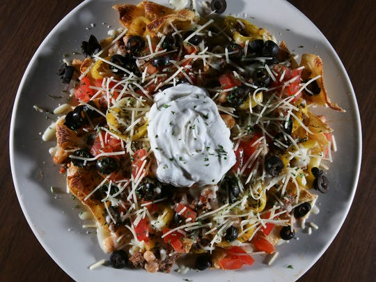 The Pasta Nachos served at the Come Back Inn.Mar. 30, 2017