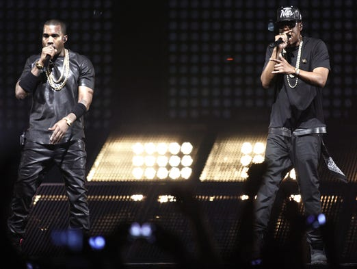 Rap kings Kanye West and Jay Z announced U.S. tours Friday morning. Jay Z's tour kicks off Nov. 30 in St. Paul, Minn., while West takes the stage Oct. 19 in Seattle. As we await the start of the tours, let's take a look back at some of their most memorable performances. Here, Kanye West and Jay Z perform during a concert as part of their 'Watch the Throne' tour in June 2012 in Paris.