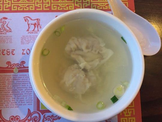 House-made wontons make this soup sensational