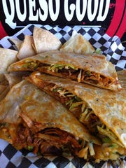The Spicy Roasted Chicken Dilla from the Queso Good
