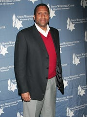 Talk show host/political commentator Tavis Smiley at the Directors Guild of America on Feb. 4, 2009 in Los Angeles.