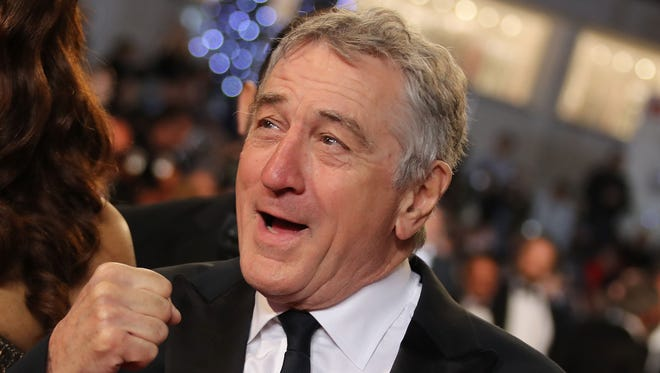 Robert De Niro arrives to a special Cannes Film Festival tribute for his career on Monday.