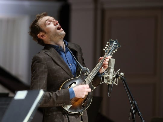 Chris Thile sang and strummed his mandolin at MusicNOW.