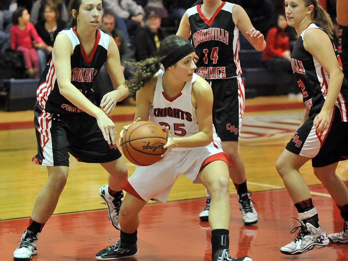 Fairfield Christian Academy's Ruthie Johnson helped lead the Knights to a Mid-State League-Cardinal Division basketball championship. She is the 2015 Eagle-Gazette Female Athlete of the Year.