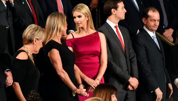 Ivanka Trump's red dress seems to match her husband's