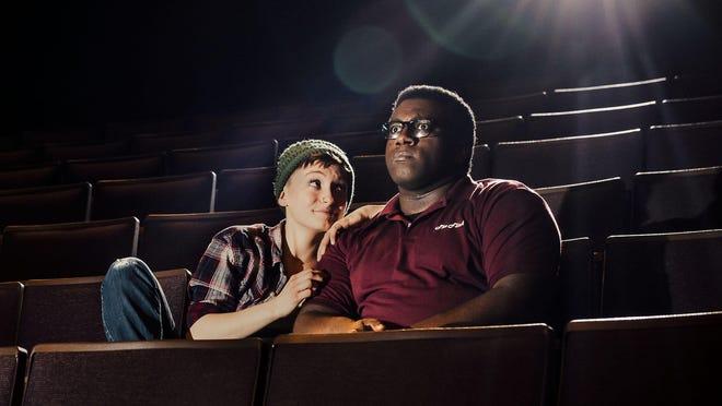 """Hannah Feuka and Ndgewa McCloud in """"The Flick."""""""
