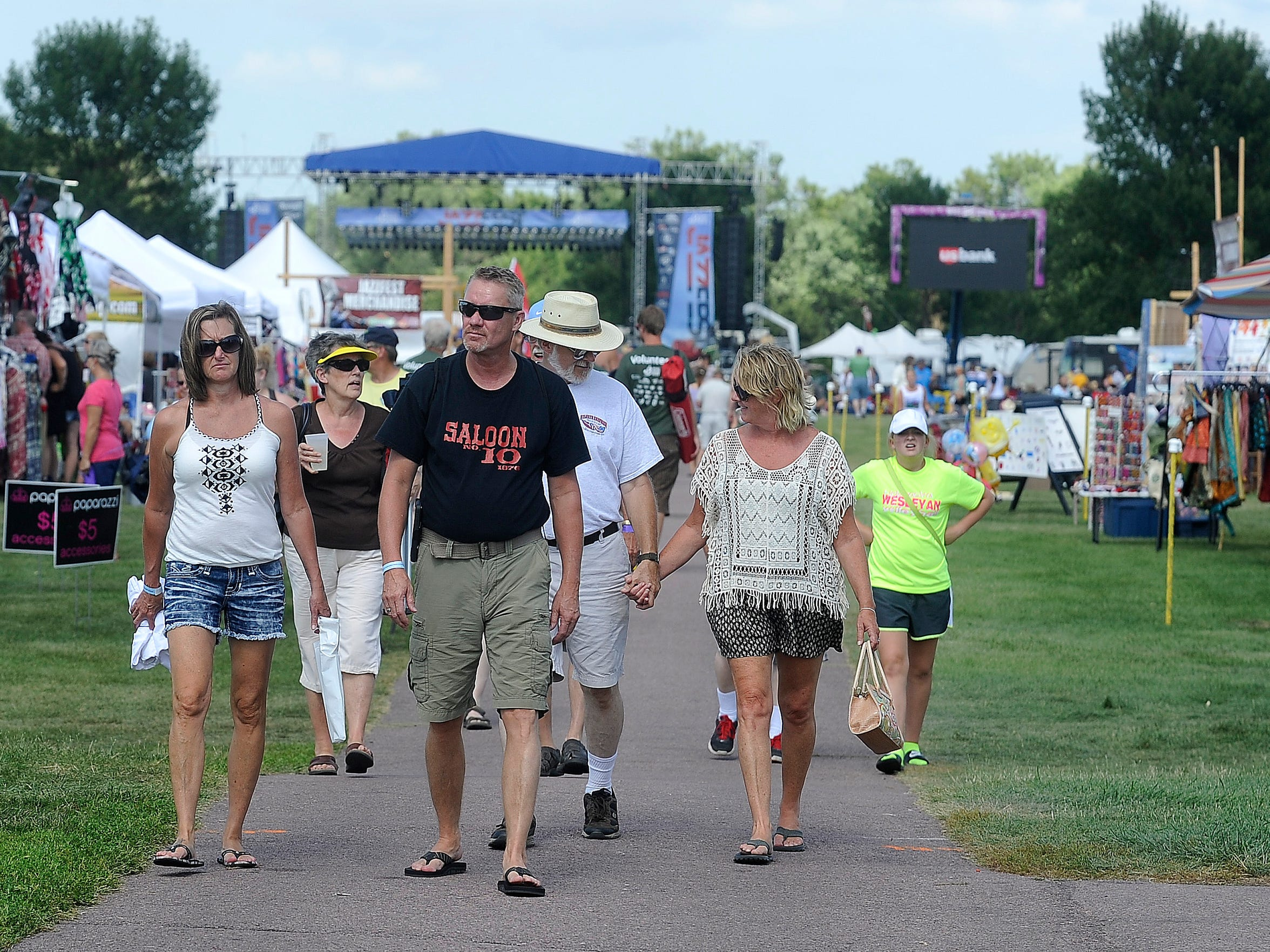 Music fans check out the offerings at last year's Jazz Fest at Yankton Trail Park.