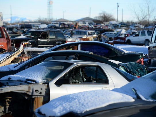 Lower Scrap Prices Fill Salvage Yards Reduce Recycling
