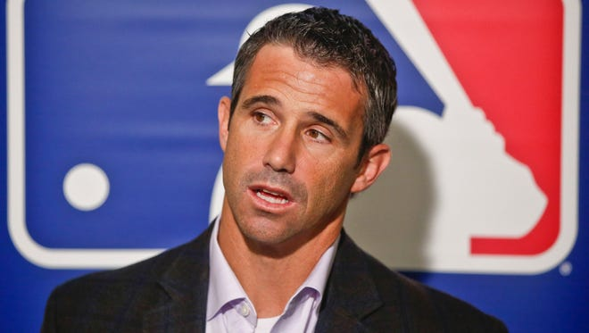 Detroit Tigers manager Brad Ausmus talks baseball during a news conference at the MLB winter meetings on Wednesday in San Diego.