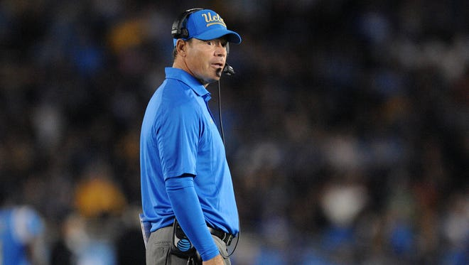 UCLA Bruins head coach Jim Mora.
