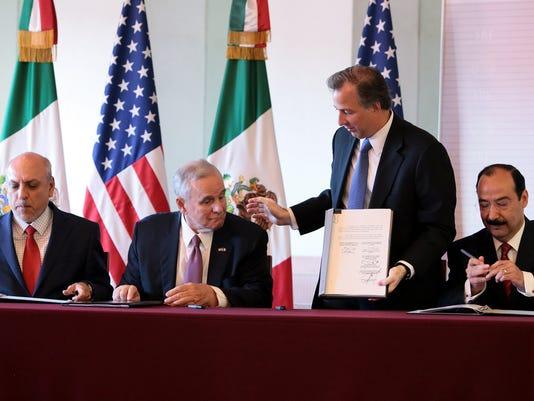 El Canciller José Antonio Meade afirmó que México y Estados Unidos trabajan por objetivos comunes en materia de tráfico de armas.
