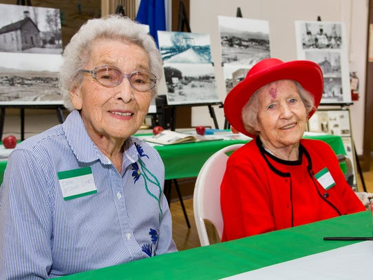 Irene McCauley Luhrs, 95, (left) and Mae Walmsley,