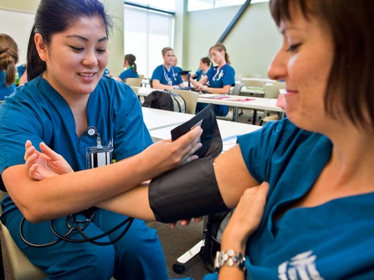 Students in Maricopa Community Colleges' nursing program