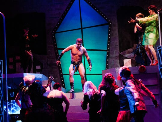 "Scenes are acted out by cast members during a dress rehearsal for ""The Rocky Horror Show"" at Sugden Community Theatre in Naples, Fla., on Thursday, Oct. 6, 2016."