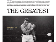 The cover of The Courier-Journal's June 5, 2016 special section remembering Muhammad Ali