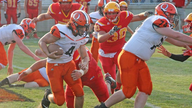 Quincy's Evan Coon starred on both sides of the ball for the Orioles, earning Big 8 All Conference honors on both offense and defense. Coon earned a nomination to the ADDIX All-Star game in 2020.