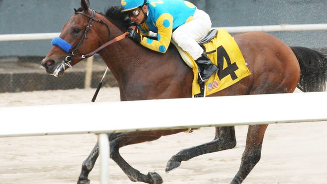 American Pharoah captured Oaklawn Park's $750,000 Rebel Stakes by 6 1/4 lengths ove Madefromlucky in last year's 2-year-old champion's first start in 5 1/2 months.