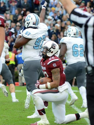 USC running back Brandon Wilds rushed for 40 yards on 16 carries against The Citadel.