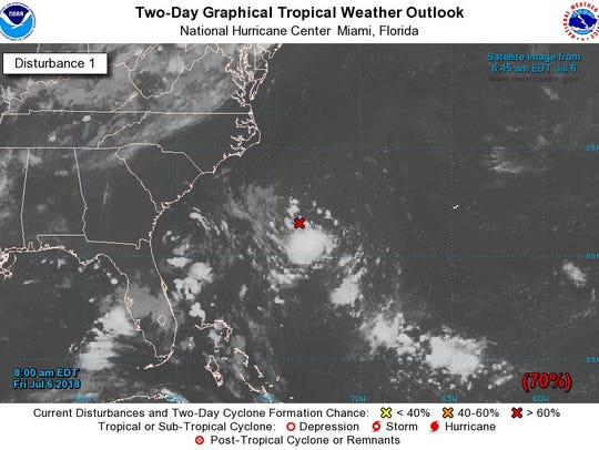 Hurricane Center monitoring system that may become
