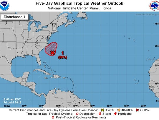 Tropics 8 a.m. July 6, 2018.