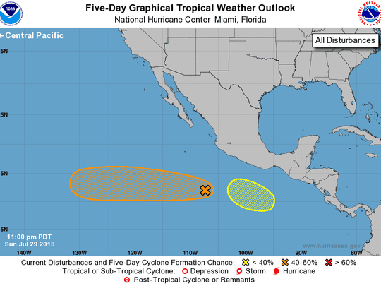 Conditions in the Pacific July 30, 2018.