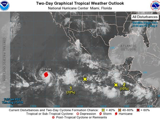 Hurricane Hector and other systems being monitored